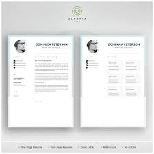 Modern Resume Etsy Modern Resume Template Creative Cv With Photo 1 2 Page