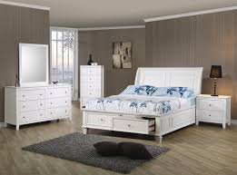 beach bedroom set. Perfect Bedroom Sandy Beach 4 Piece Storage Bed Bedroom Set In White Finish By Coaster   400239 Inside A