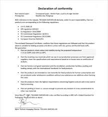 Certificate Of Compliance Template Word Sample Conformity Certificate Template 15 Documents In