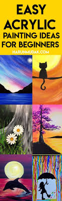 80 easy acrylic painting ideas for