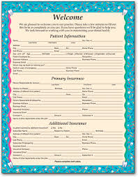 patient information form dental office forms gather essential information smartpractice dental