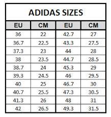 Nmd Adidas Size Chart