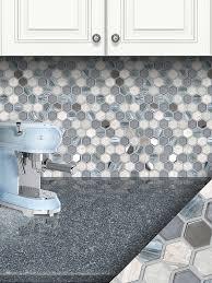blue gray marble glass backsplash tile white cabinet cambria countertop ba62026