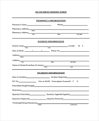 Patient Incident Report Form