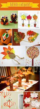 Fall Kids Craft Party Ideas -- fun for them to do while the turkey is
