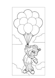 Kleurennu Clown Met Ballonnen In De Lucht Kleurplaten Beste