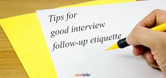 tips for good interview follow up etiquette
