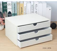 office <b>3 drawer</b> wooden <b>leather</b> desk a4 <b>file</b> cabinet drawer box table ...
