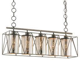 currey marmande rectangular chandelier in cupertino bronze and mercury glass