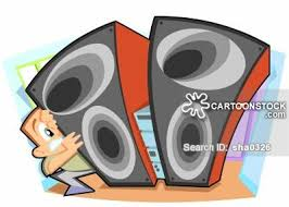 sound system clipart. big speaker cartoon 1 of sound system clipart