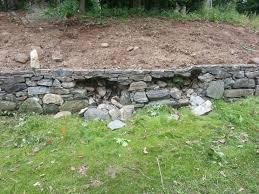 original stone retaining wall