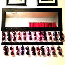 diy sunglass rack sungl rack organizer made my mirror into a inspired holder home improvement stock diy eyeglass rack