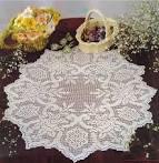 Вязание скатерти крючком филейная сетка 86