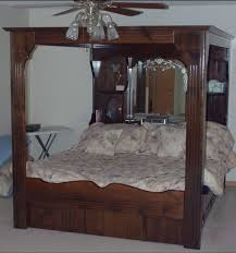 Cal King Solid Wood Platform & Canopy Bed System