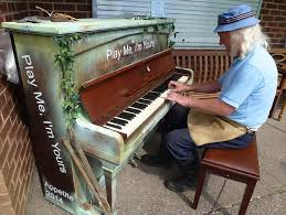 a man plays a piano in stoke on t mr jarram says he believes the