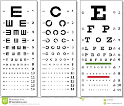 Snellen Chart Free Download Eye Chart Stock Vector Illustration Of Healthcare Chart