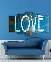 blue love five panel wall art review  on panel wall art review with five panel wall art beach canvas modern abstract oil paintings
