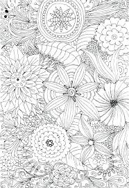 Flower Design Coloring Pages Printable Flowers Coloring Pages For