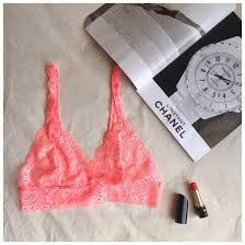 chanel underwear. underwear pink lipstick summer lace bralette bra lingerie chanel magazine cute dress m
