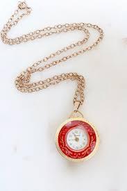 vintage lucerne watch necklace swiss