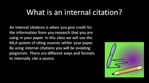 Creating Internal Citations And Works Cited Pages Ppt Download