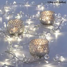 Beaded Fairy Lights Led Fairy Lights Decorative Abs Jewel Beaded Garland Warm White 10 Led Lights Bohemian Elegant Fairy Lights For Home Living Room Bedroom Patio