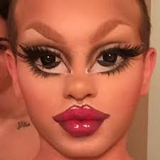drag queen matte is behind the bratz inspired makeup all over insram
