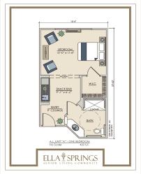 The Bluffs  Assisted Living  Duplex Floor PlanAssisted Living Floor Plan