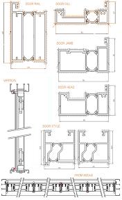 aluminium bifold technical drawings bifold door technical features