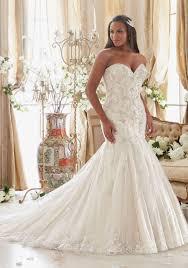 Davidu0027s Bridal 34 Sleeve Lace Trumpet Plus Size Wedding Dress Plus Size Wedding Dress Styles