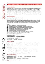 Data Entry Resume Cute Data Entry Sample Resume Free Career Resume