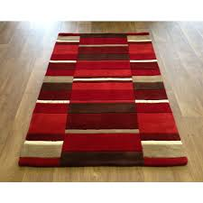 jazz modern blocks rug red 160x230