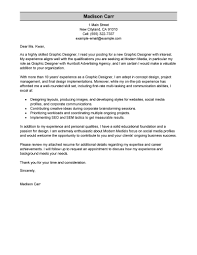Graphic Designer Cover Letter Samples Guamreview Com