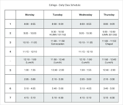 Class Schedule Template Online College Course Planner Template Kingest Co