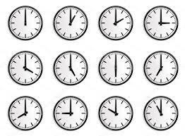 world time zone wall clock vector stock vector