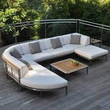 Stainless steel furniture designs Metal Fabricated Kingsley Bate Tivoli Stainless Steel Sectional Curved Corner Chair With Outdoor Stainless Steel Furniture Great Outdoor Tuckrbox Kingsley Bate Tivoli Stainless Steel Sectional Curved Corner Chair