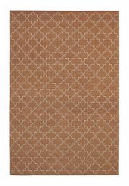 assa burnt orange moroccan lattice wool rug