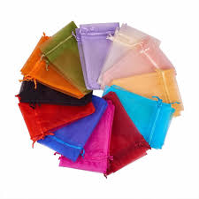 Pandahall <b>200PCS Mixed</b> Color Organza Gift Bags with Drawstring ...
