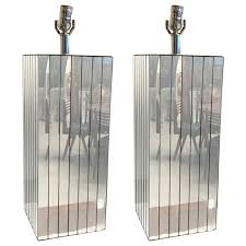 mirrored table lamps pair of mid century 1 a kind uk
