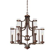 millennium lighting milan rubbed bronze nine light chandelier