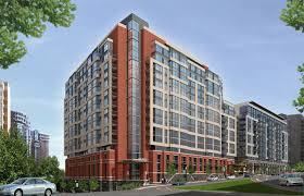 Brick Apartment Building Illustration - Modern apartment building facade