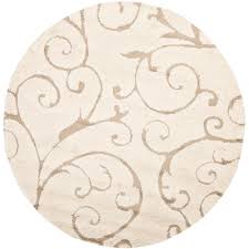 safavieh florida cream beige 8 ft x 8 ft round area rug