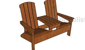 double adirondack chair plans. Double Adirondack Chair With Table Plans Double Adirondack Chair Plans HowToSpecialist.com