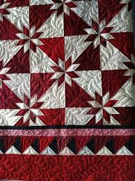 Red and white Hunter Star quilt | Quilts For All | Pinterest ... & Red and white Hunter Star quilt Adamdwight.com
