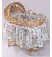 Vintage Toile Bassinet Bedding