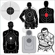 Free Online Printable Shooting Targets Set Of 6 Vector
