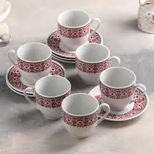"""Сервиз чайный """"Агния"""", 12 предметов: чашка 200 мл, <b>блюдце 12 см</b>"""