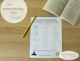 Summer Book Reading Chart Free Summer Reading Chart Printable Home Crafts By Ali