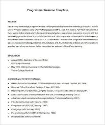 computer programmer resume samples specific language programmer resume specific language programmer