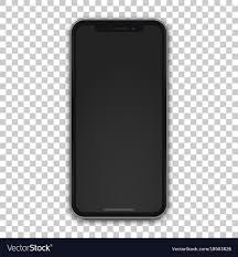 template phone new black mobile template with empty screen